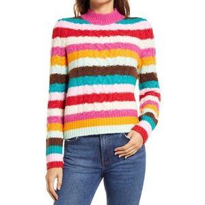 NWT Halogen x Atlantic Pacific Striped Sweater